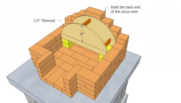how to build a brick arch roof
