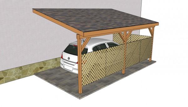 Attached carport plans