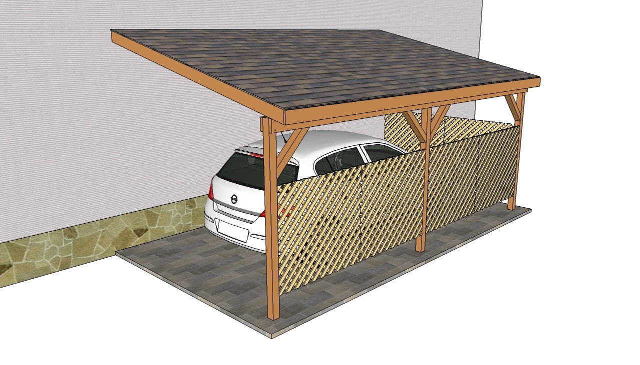 Attached carport plans myoutdoorplans free woodworking for Shed with carport attached