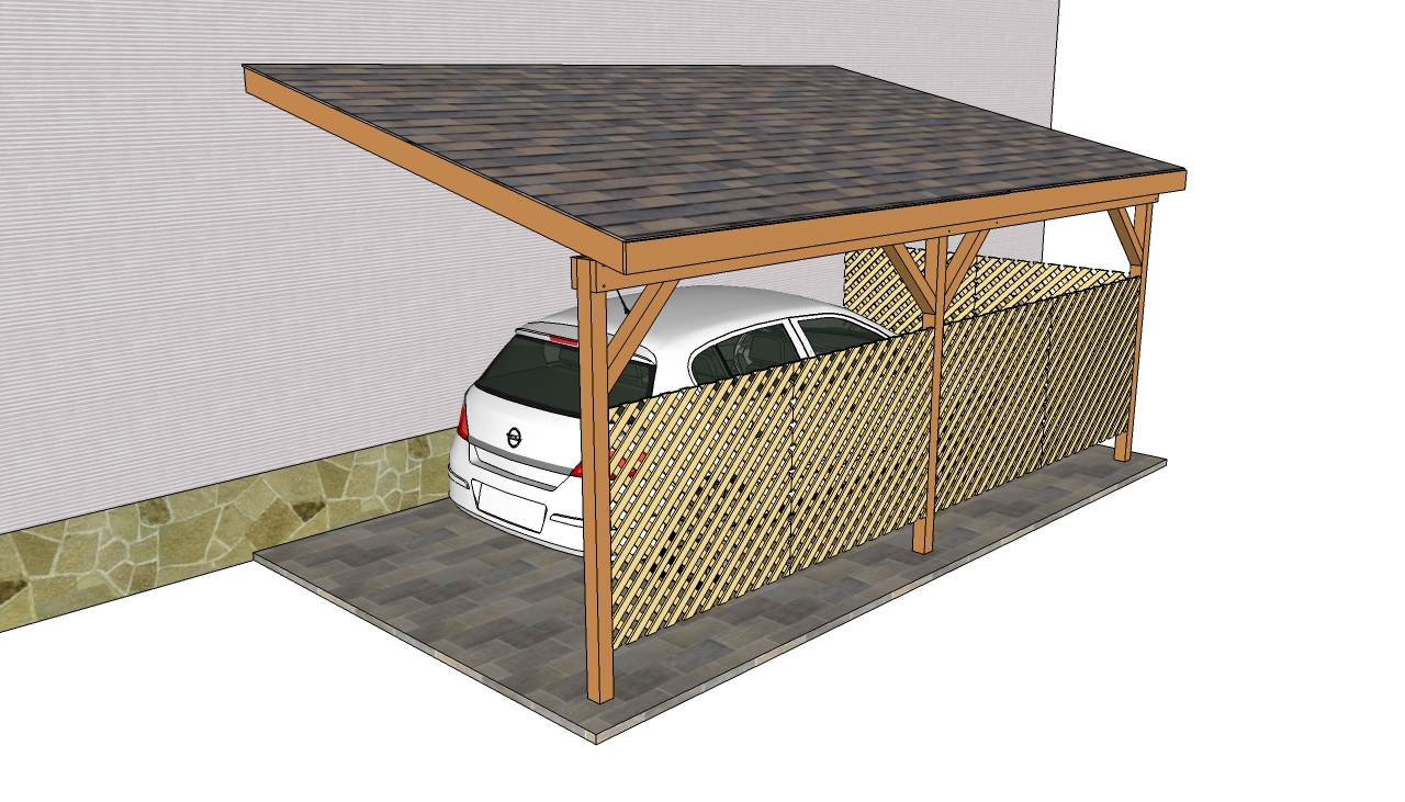 Double carport plans Attached carport plans Wooden Carport Plans