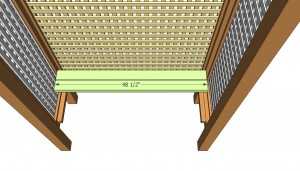 Attaching the bench slats