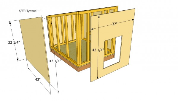 Large dog house plans myoutdoorplans free woodworking Lean to dog house plans