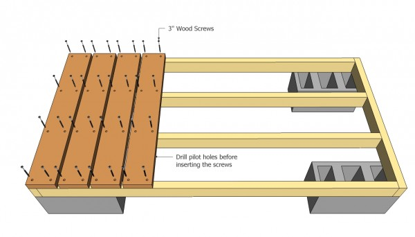 Attaching the slats