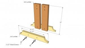 Bench legs plans