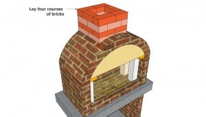 Building the brick chimney