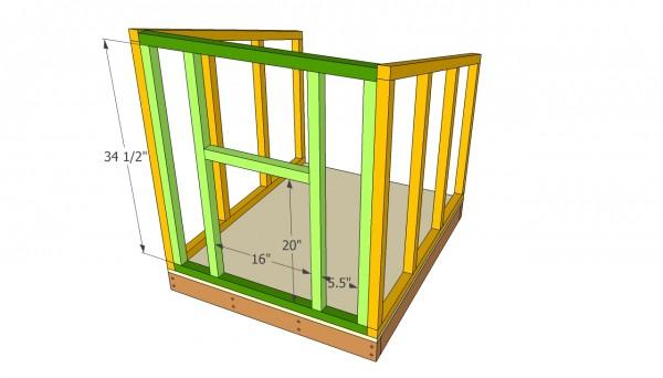 Doghouse front face plans