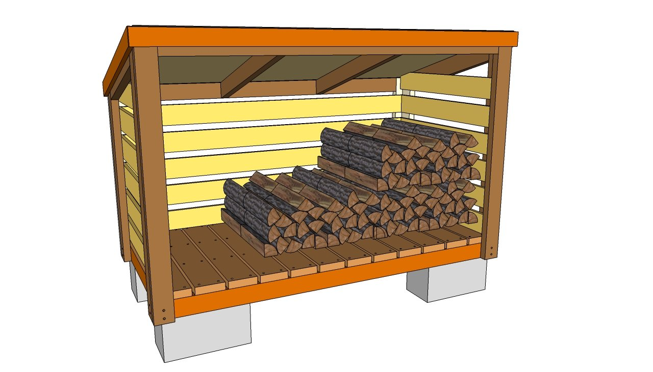 how to build a firewood shed plans | Quick Woodworking Projects