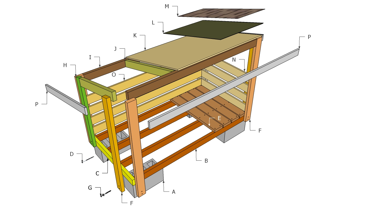 Firewood Shed Plans | Free Outdoor Plans - DIY Shed, Wooden