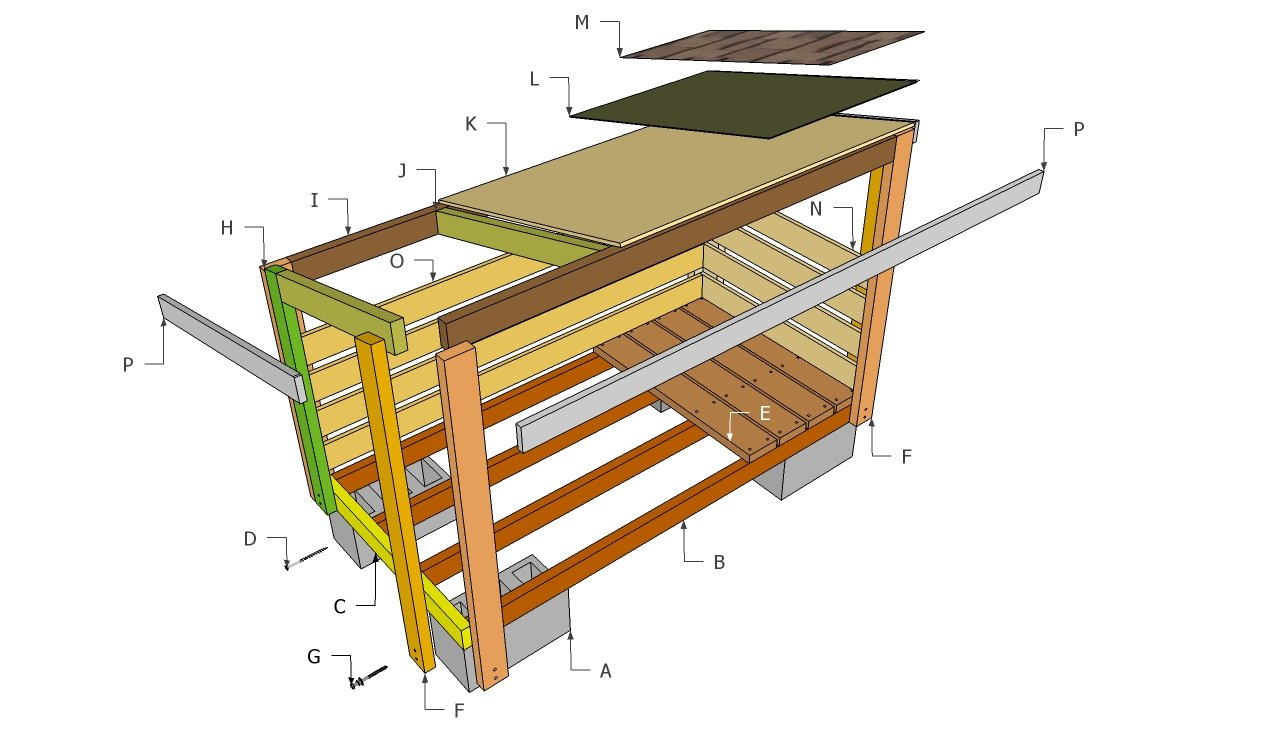 Firewood Shed Plans | Free Outdoor Plans - DIY Shed, Wooden Playhouse ...