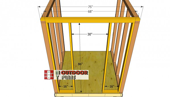 Front-wall-frame---small-shed