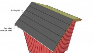 Installing tar paper