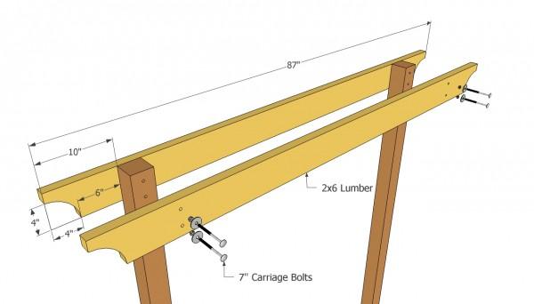 Installing the cross beams