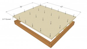 Installing the plywood flooring