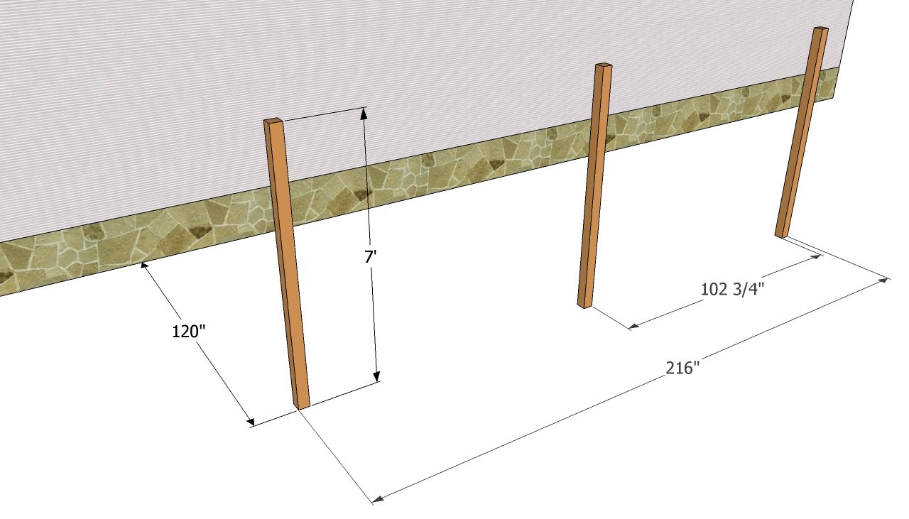 attached carport plans myoutdoorplans free woodworking plans installing the posts