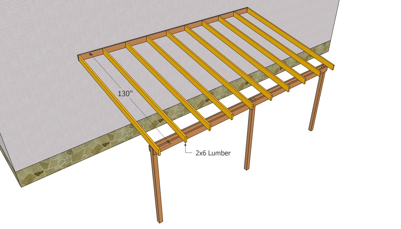 Attached carport plans | MyOutdoorPlans | Free Woodworking Plans and ...