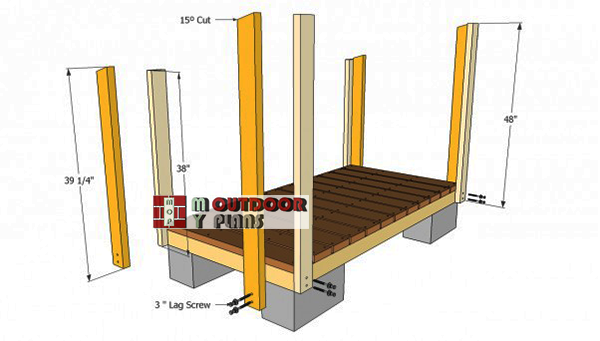Installing-the-shed-posts