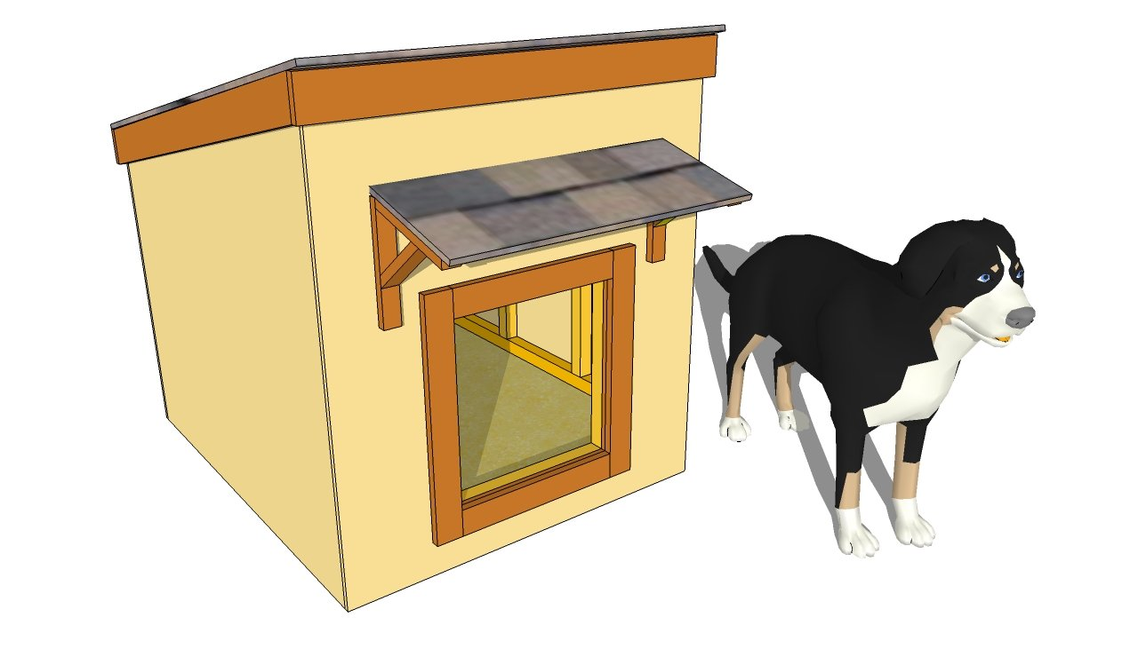 Simple Dog House Plans   MyOutdoorPlans   Free Woodworking Plans    Insulated Dog House Plans  middot  Large Dog House Plans