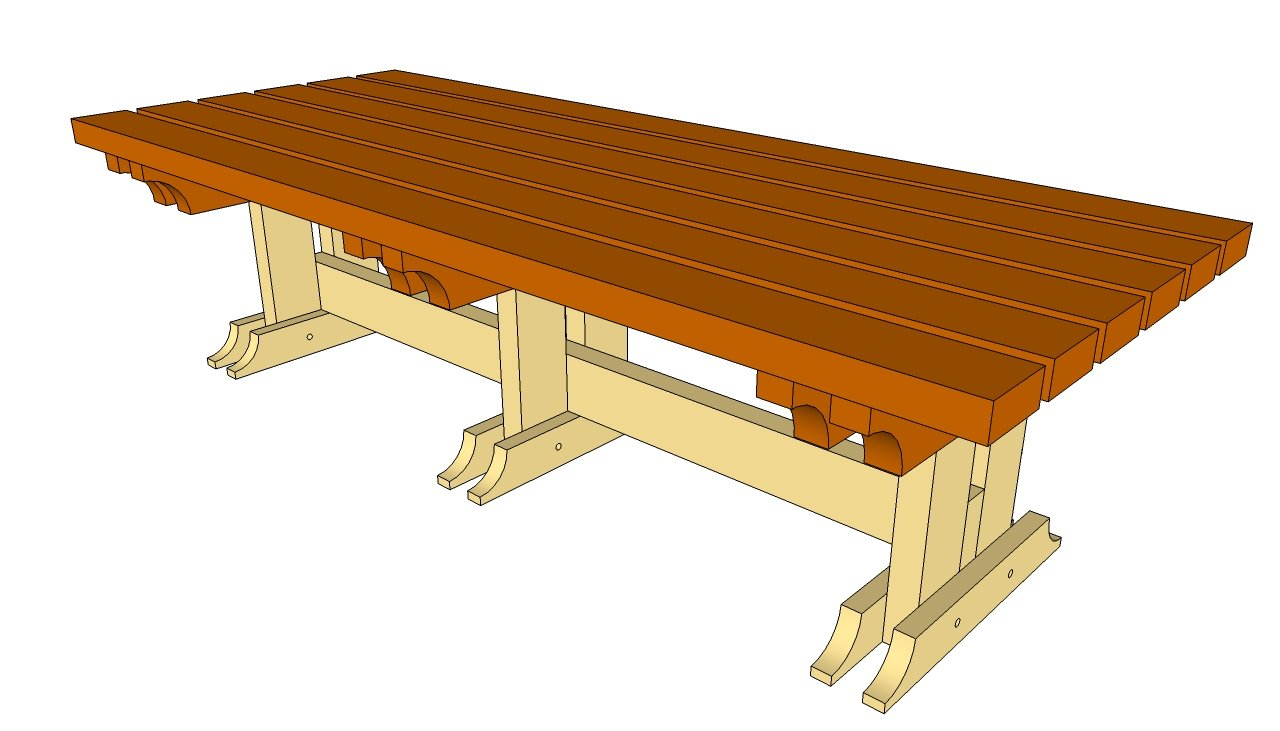 Outdoor bench plans free diy shed