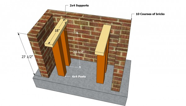 Outdoor bbq base plans