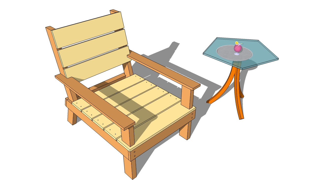 outdoor wood chair plans