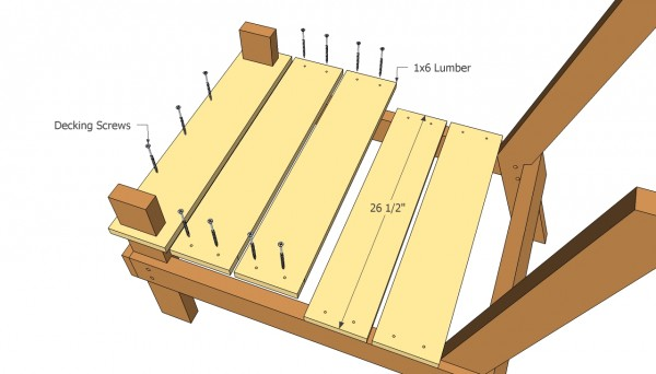 Outdoor chair seat plans