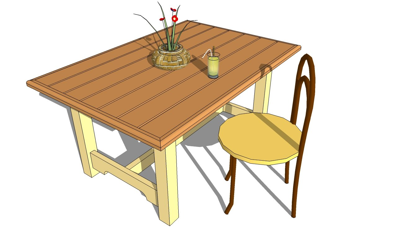 Outdoor Wood Table Plans Free Diy Woodworking