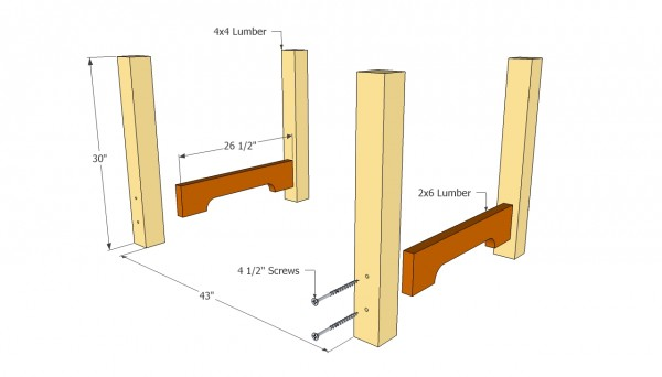 Outdoor table posts plans