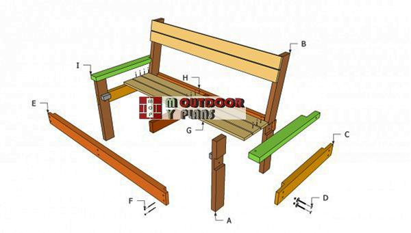 Park-bench-components