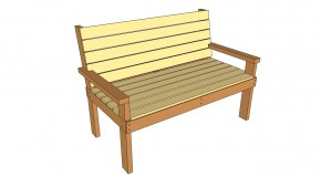 how to build an outdoor bench with back