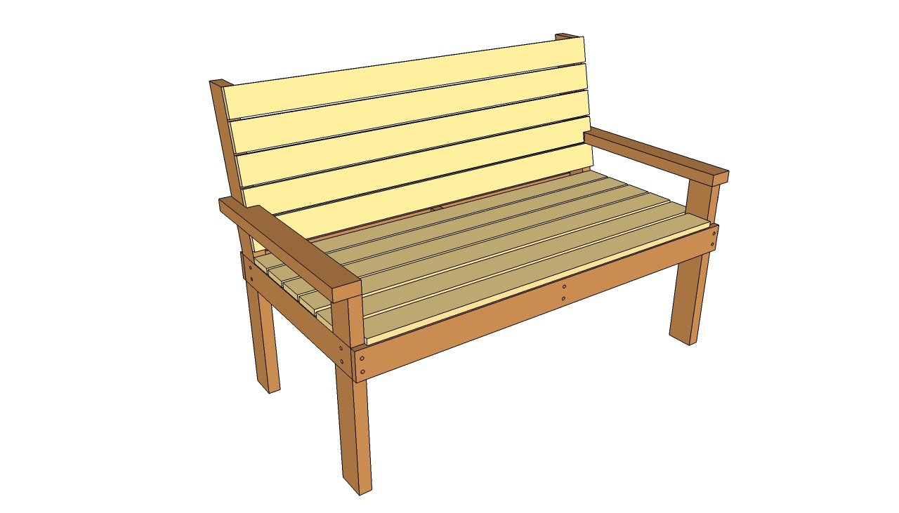 Park bench plans free outdoor diy shed wooden