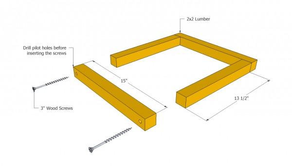 Planter box frame