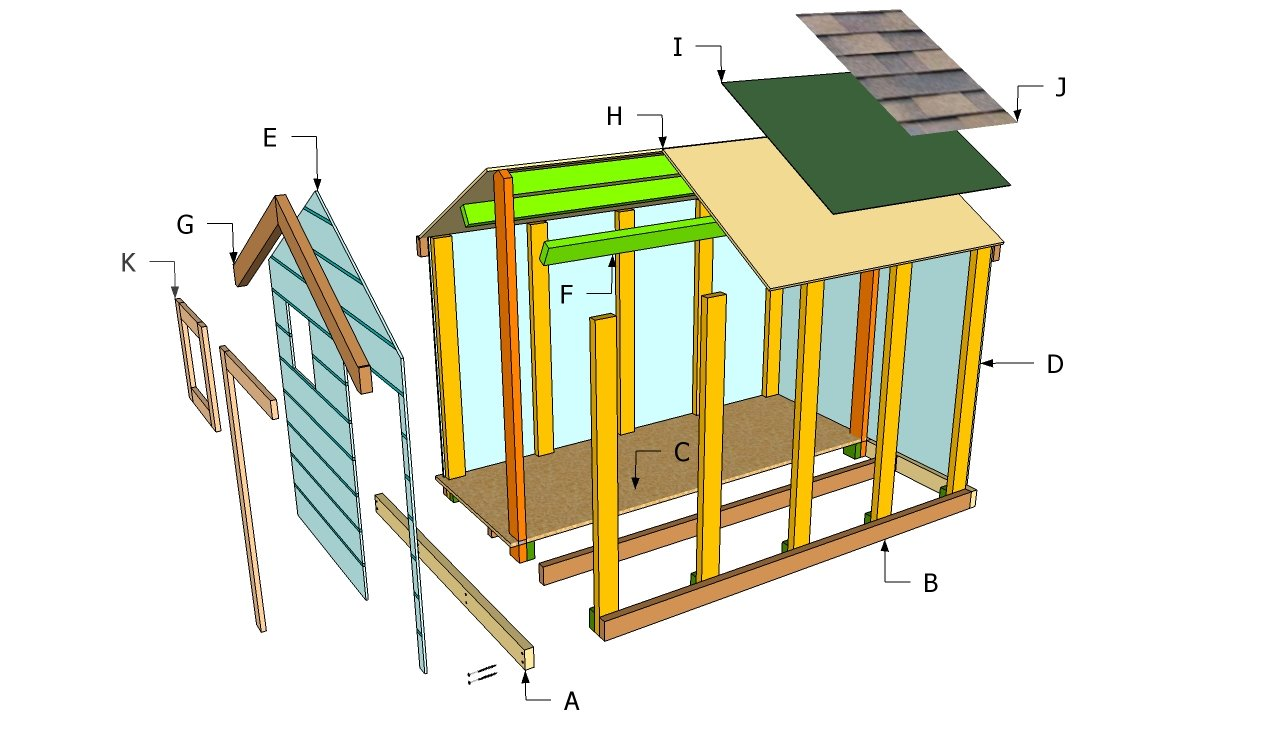 Woodwork simple kids playhouse plans pdf plans for Easy to build playhouse