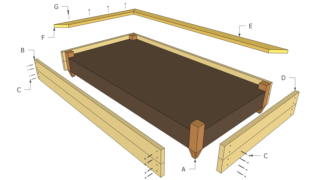 Raised bed plans | Free Outdoor Plans - DIY Shed, Wooden Playhouse ...