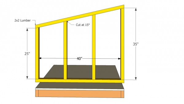 How To Build A Sloped Roof Dog House