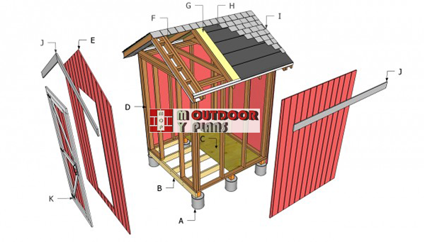 Small-shed-components---diy-plans