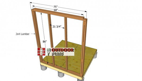 Small-shed-side-wall-frames