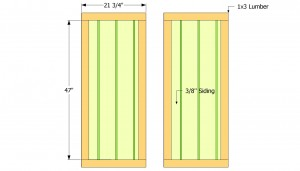 Toold shed door plans