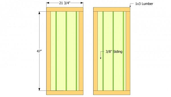Toold shed door plans