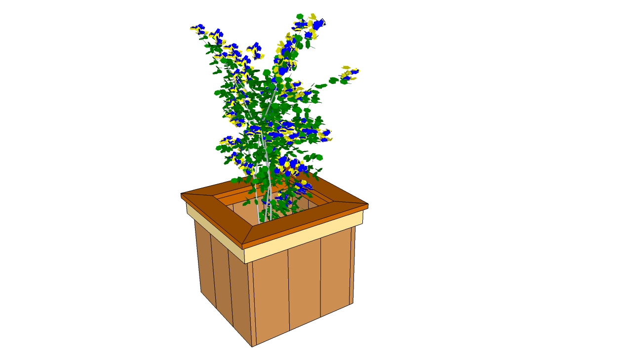 Free planter box plans myoutdoorplans free woodworking for Garden planter plans