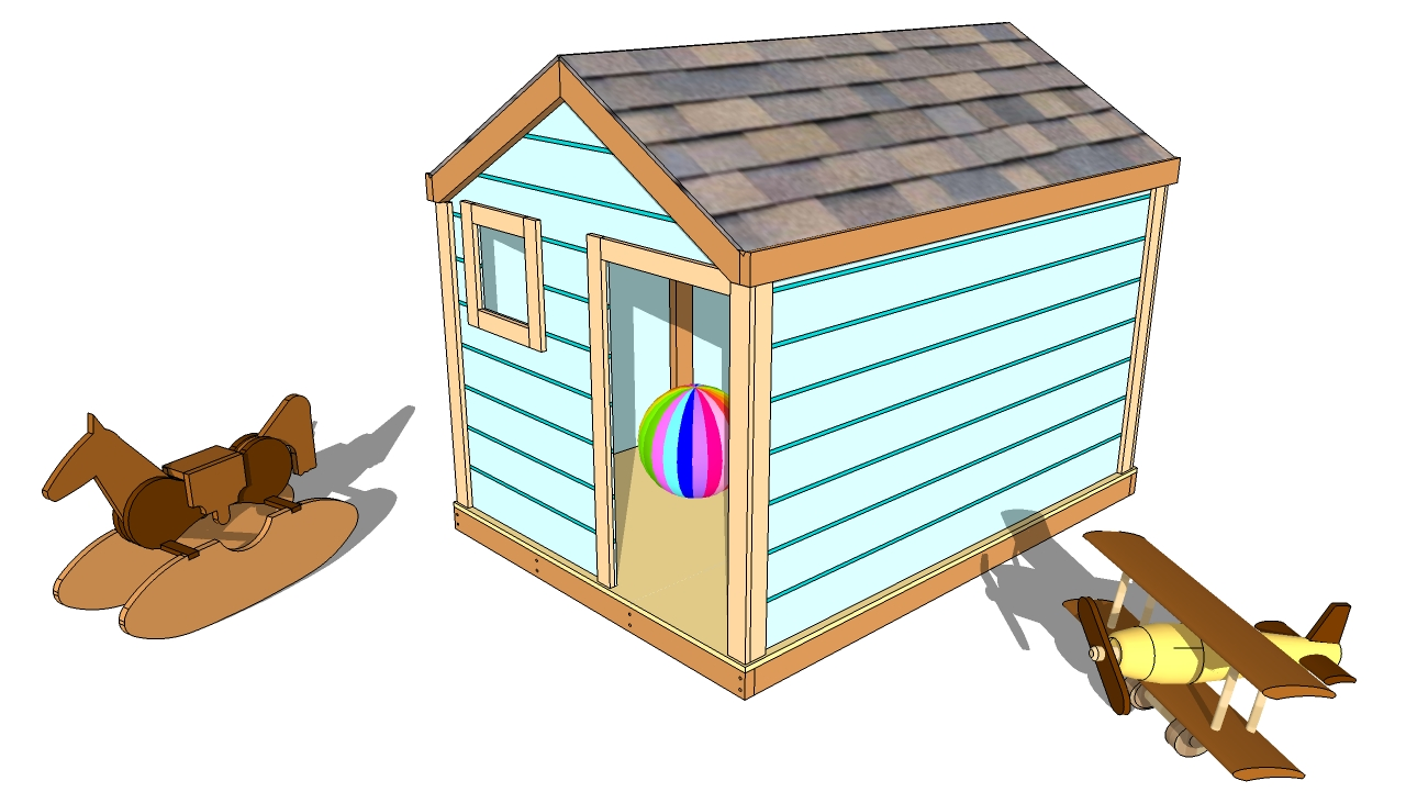 Outdoor playhouse plans myoutdoorplans free for Wooden playhouse designs
