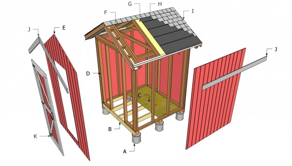Small shed components