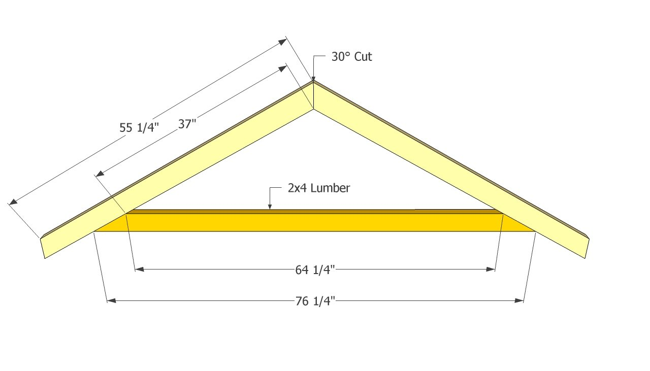 Gable Shed Roof Plans | Free Outdoor Plans - DIY Shed, Wooden