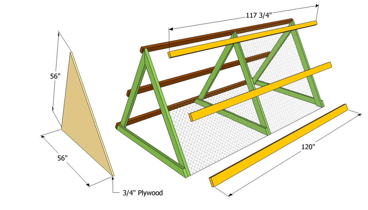 A frame chicken coop plans free outdoor plans diy shed A frame blueprints