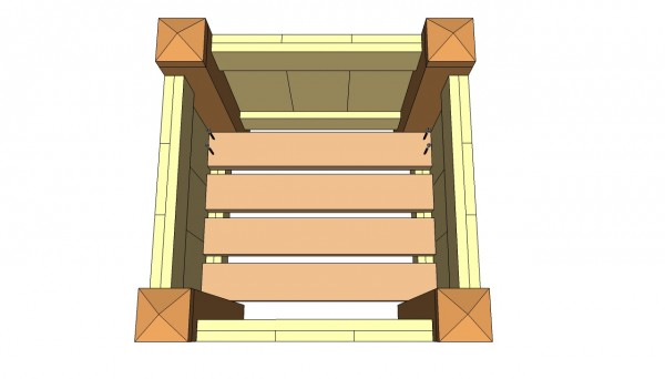 Attaching the flooring