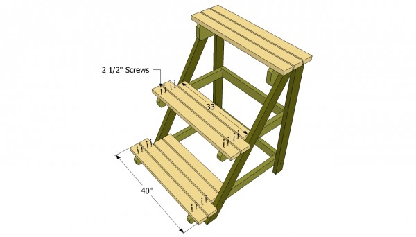 Outdoor plant stand plans myoutdoorplans free for Attaching shelves to plastic shed