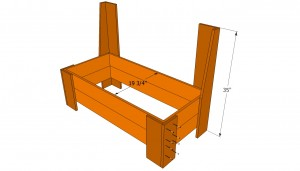 Building the base of the bench