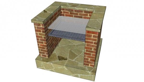 Cladding the brick bbq