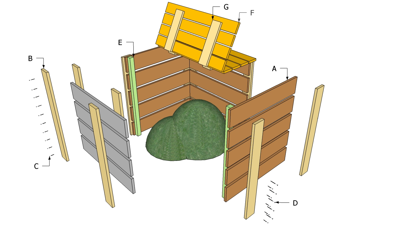 ... Compost Bin Plans Download diy crooked playhouse plans – woodguides