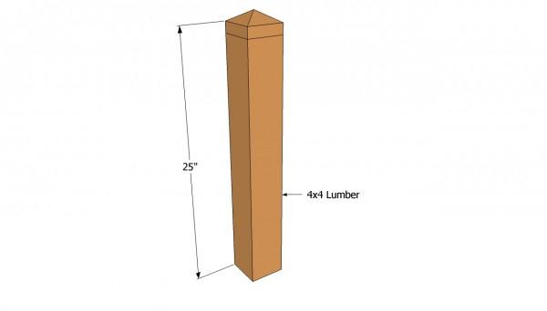 Corner posts plans