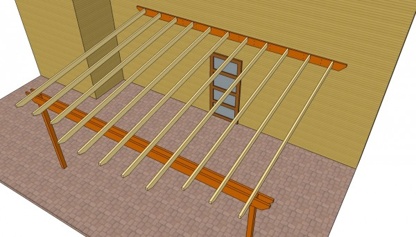 Pergola Attached To The House Plans